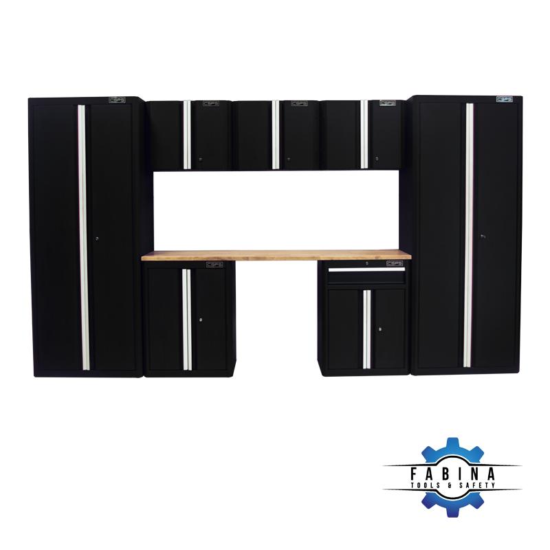 Bộ 08 tủ dụng cụ màu đen CSPS – 335cm