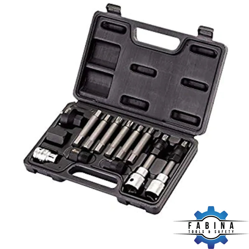 Bộ dụng cụ xoay chiều rồng rọc ổ cắm bit Retta 13 chi tiết - RAS0130