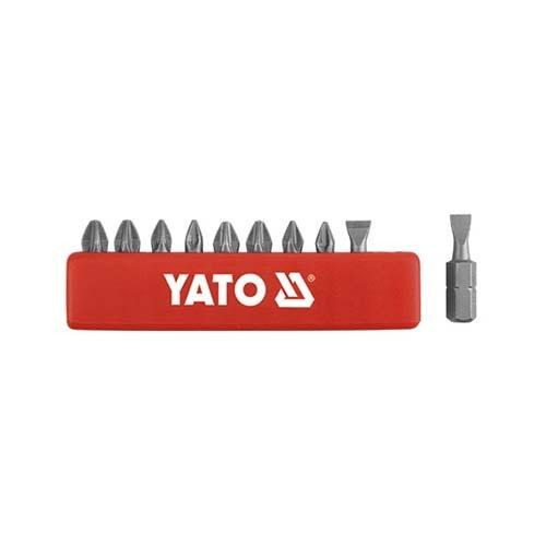 BỘ MŨI VÍT (+)(-) - LỤC GIÁC 1/4'' YATO 10 CHI TIẾT