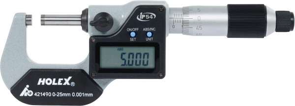 Digital external micrometer 0-25 mm
