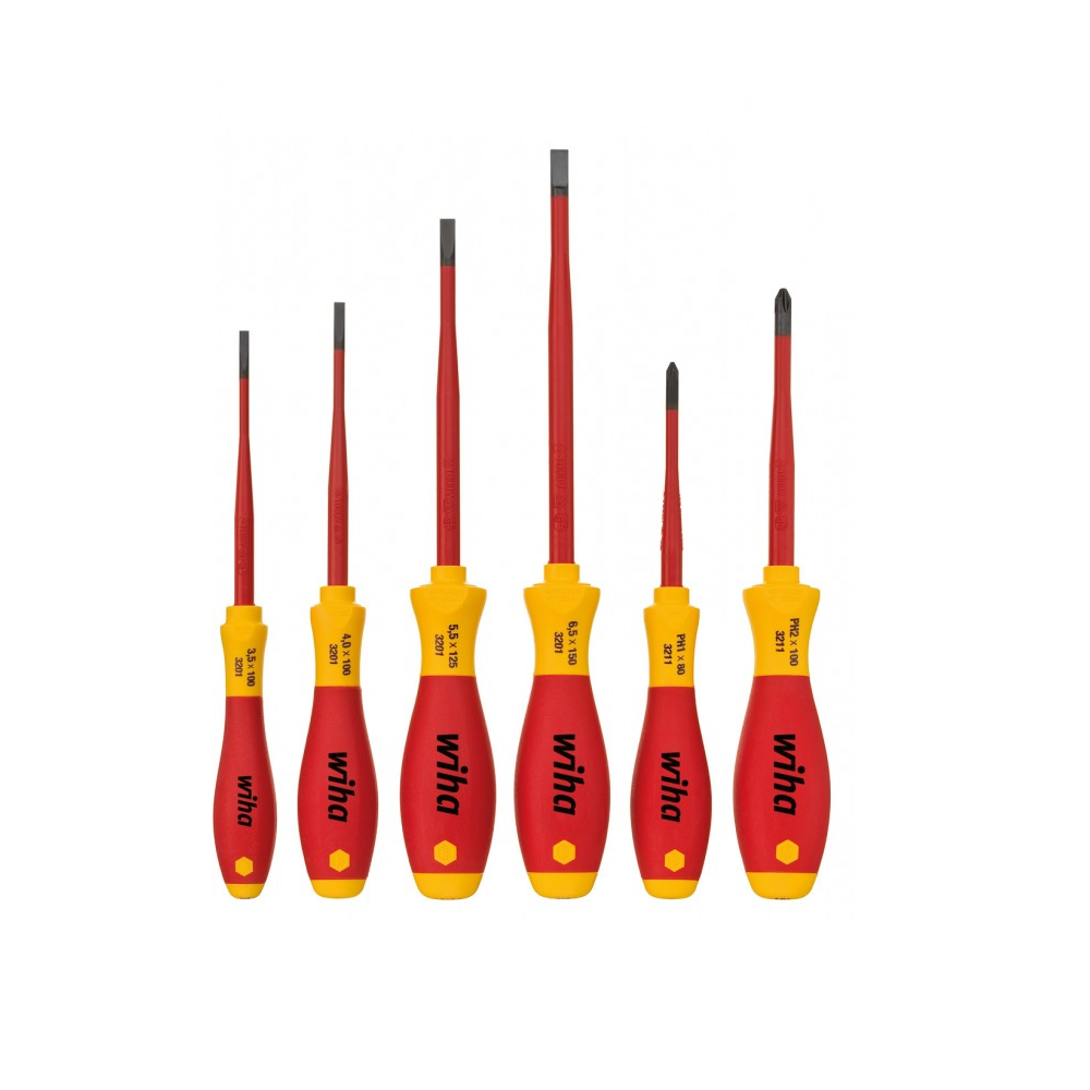 Screwdriver set SoftFinish® electric slimFix 6 pcs
