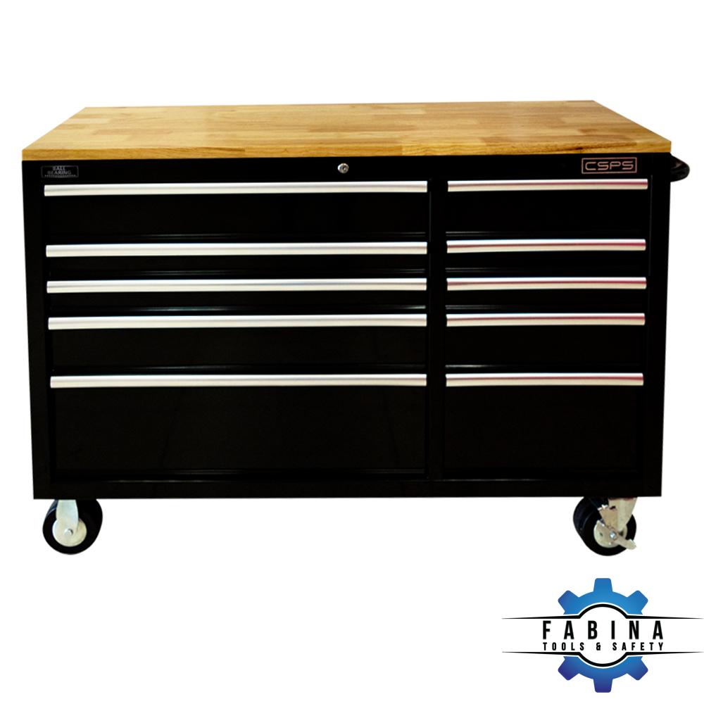 Tủ đồ nghề 10 ngăn kéo ván gỗ CSPS