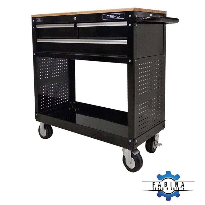 Tủ đồ nghề 3 ngăn mặt ván gỗ CSPS