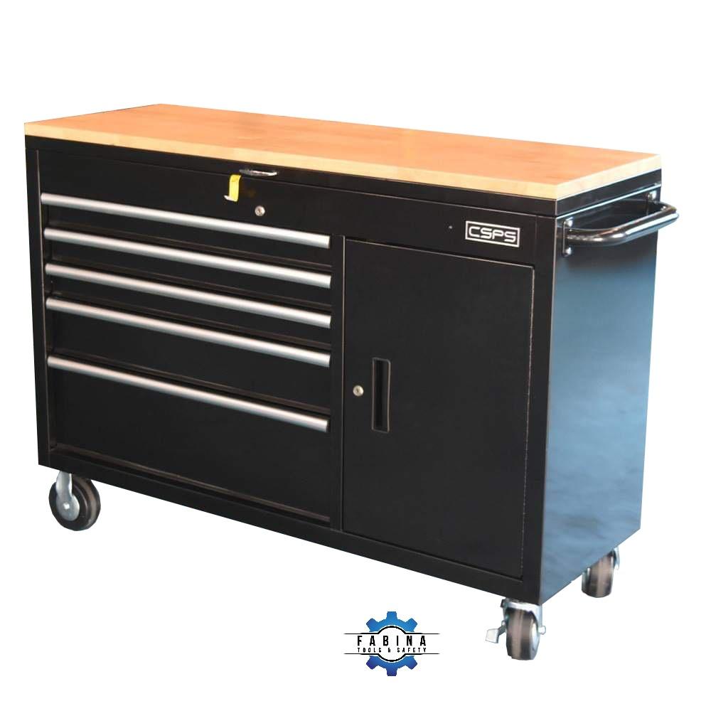 Tủ đồ nghề 5 ngăn kéo và 1 ngăn nắp cố định CSPS