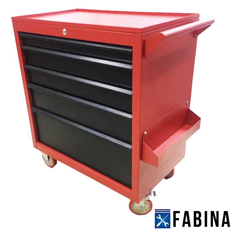 Tủ đồ nghề dụng cụ 5 ngăn màu đỏ đen FBNC0205