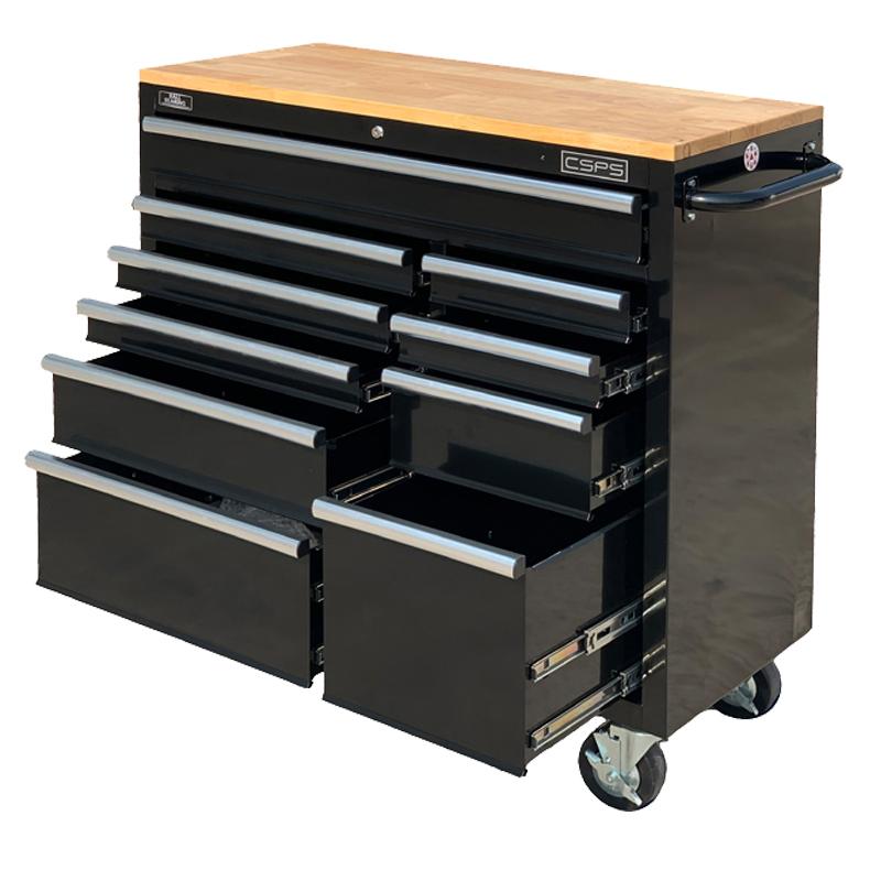 Tủ dụng cụ CSPS 104cm - 10 hộc kéo ván gỗ