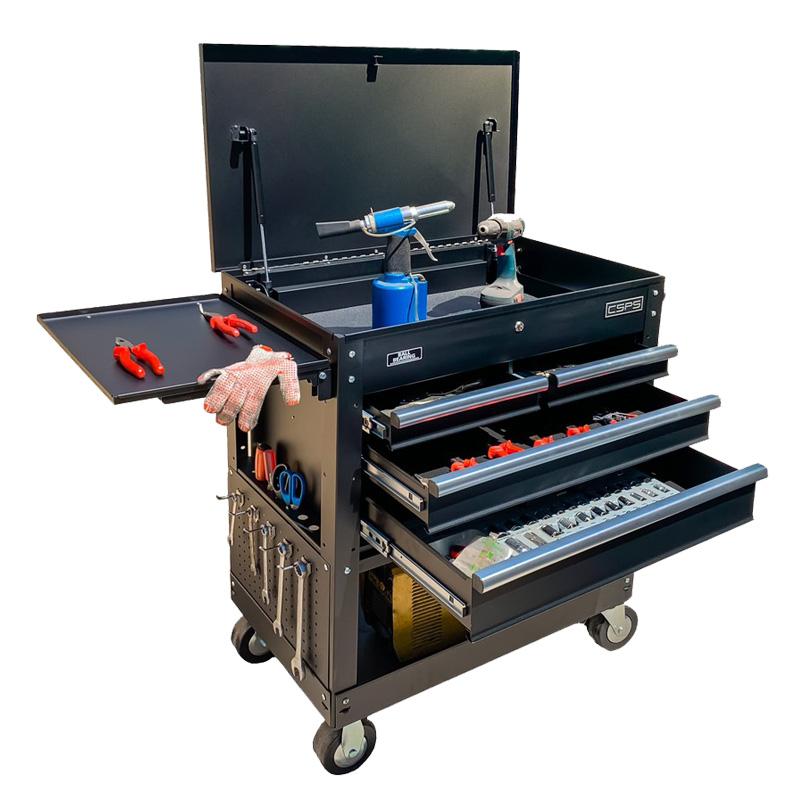 Tủ dụng cụ CSPS 4 ngăn kéo, đen mờ, ray đóng êm