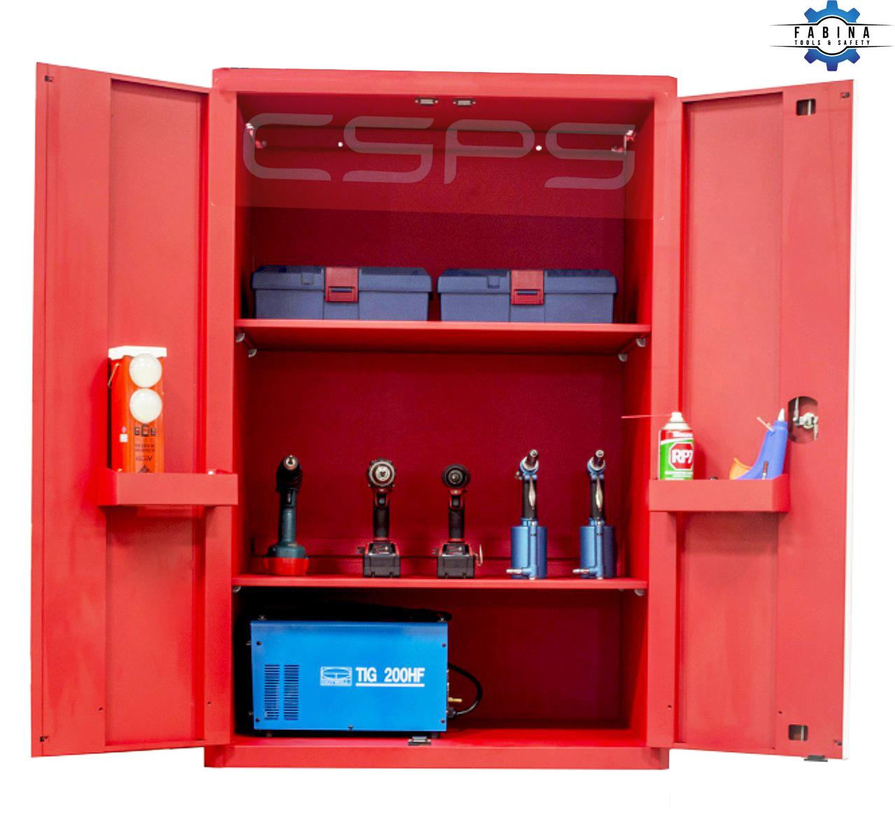 Tủ đựng dụng cụ 2 cánh mở màu đỏ CSPS 91cm W x 61.5cm D x 136cm H