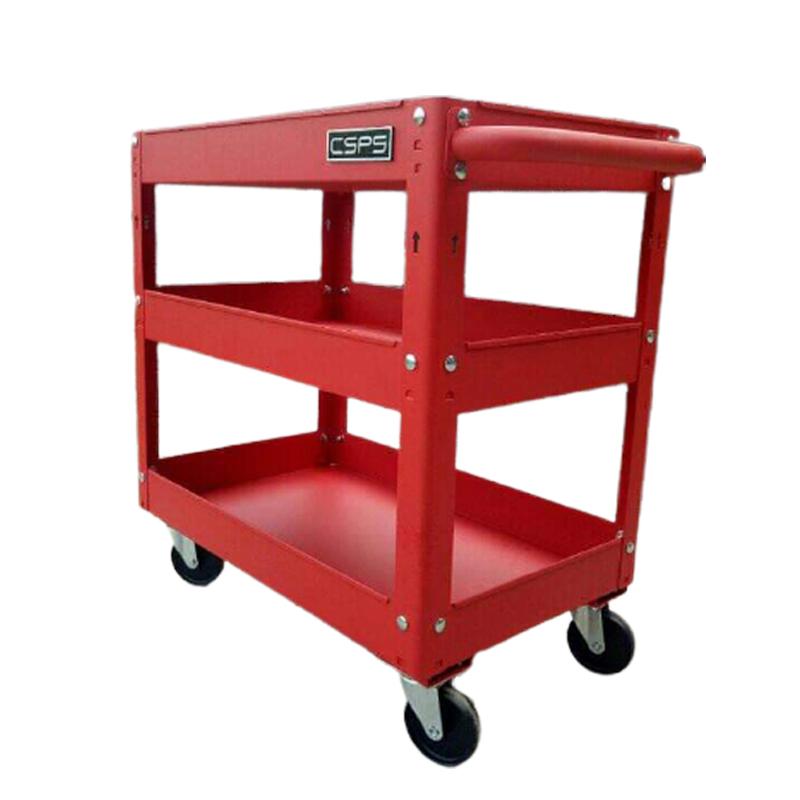 Xe đẩy 3 tầng đựng dụng cụ màu đỏ CSPS
